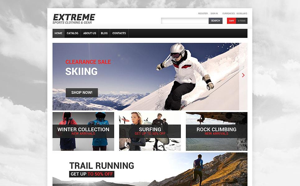 Responsive VirtueMart Vorlage für Extremsportarten  New Screenshots BIG