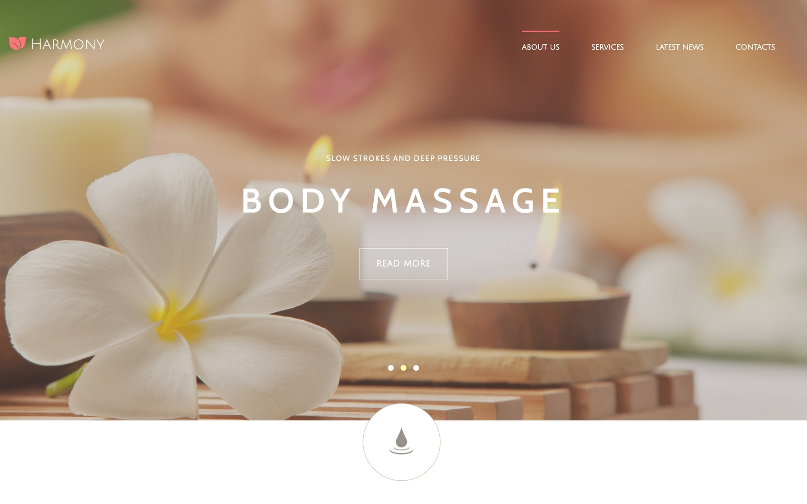 Responsywny szablon Joomla Harmony - Massage Salon Responsive Elegant #55058