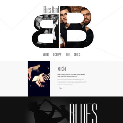 Responsywny szablon strony www #55079 na temat: zespół muzyczny