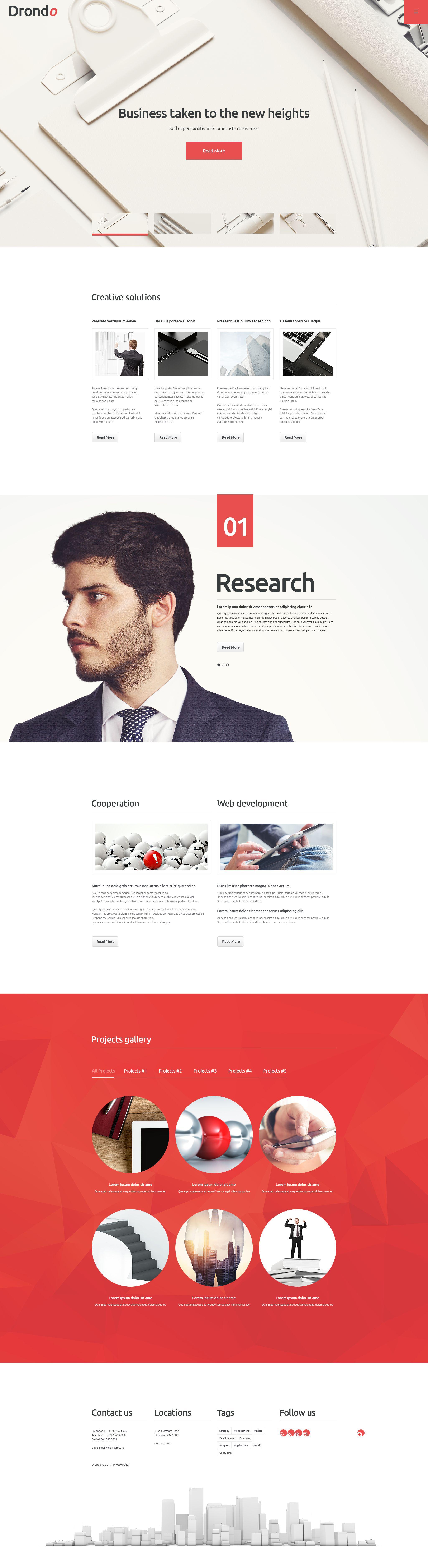 Reszponzív Drondo WordPress sablon 55044 - képernyőkép