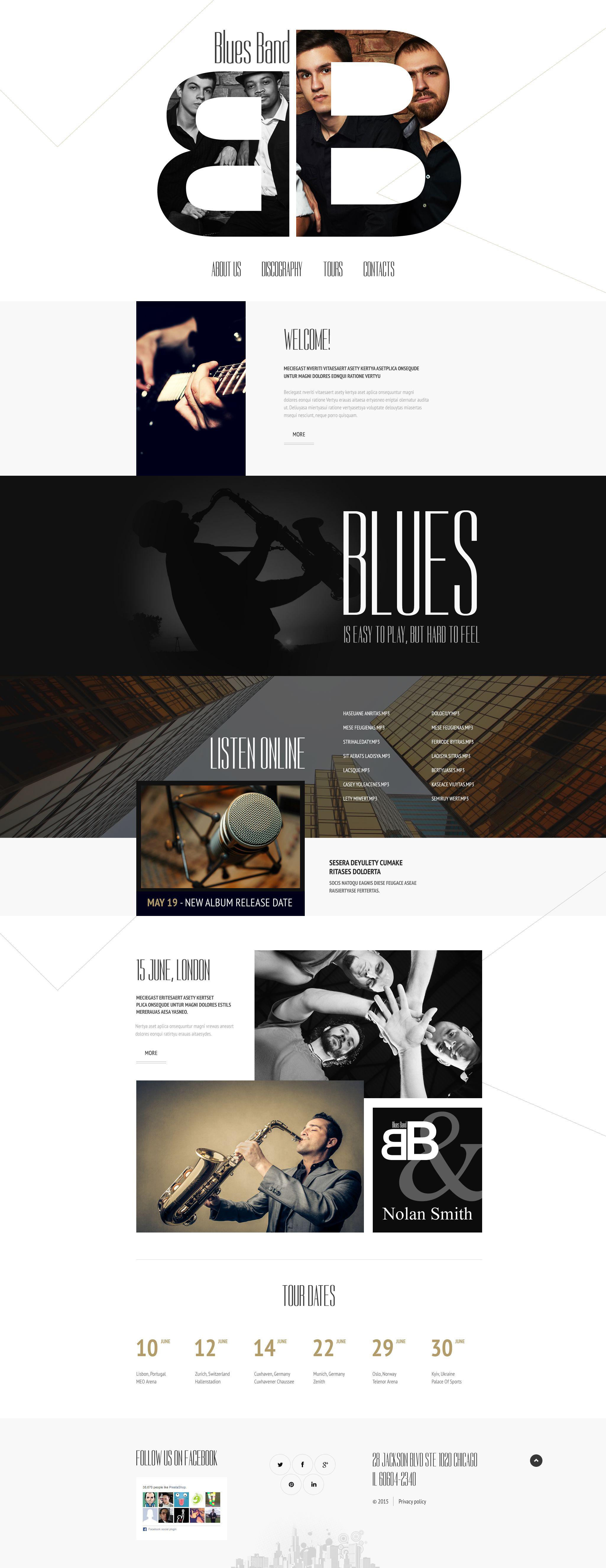 Reszponzív Music Weboldal sablon 55079