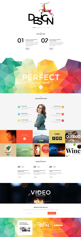 Reszponzív Web Design Agency WordPress sablon 55050 - képernyőkép