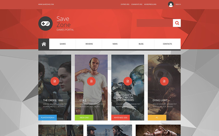 Save Zone Joomla Template