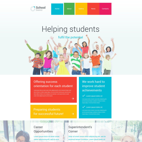 Helping Students - WordPress Template based on Bootstrap