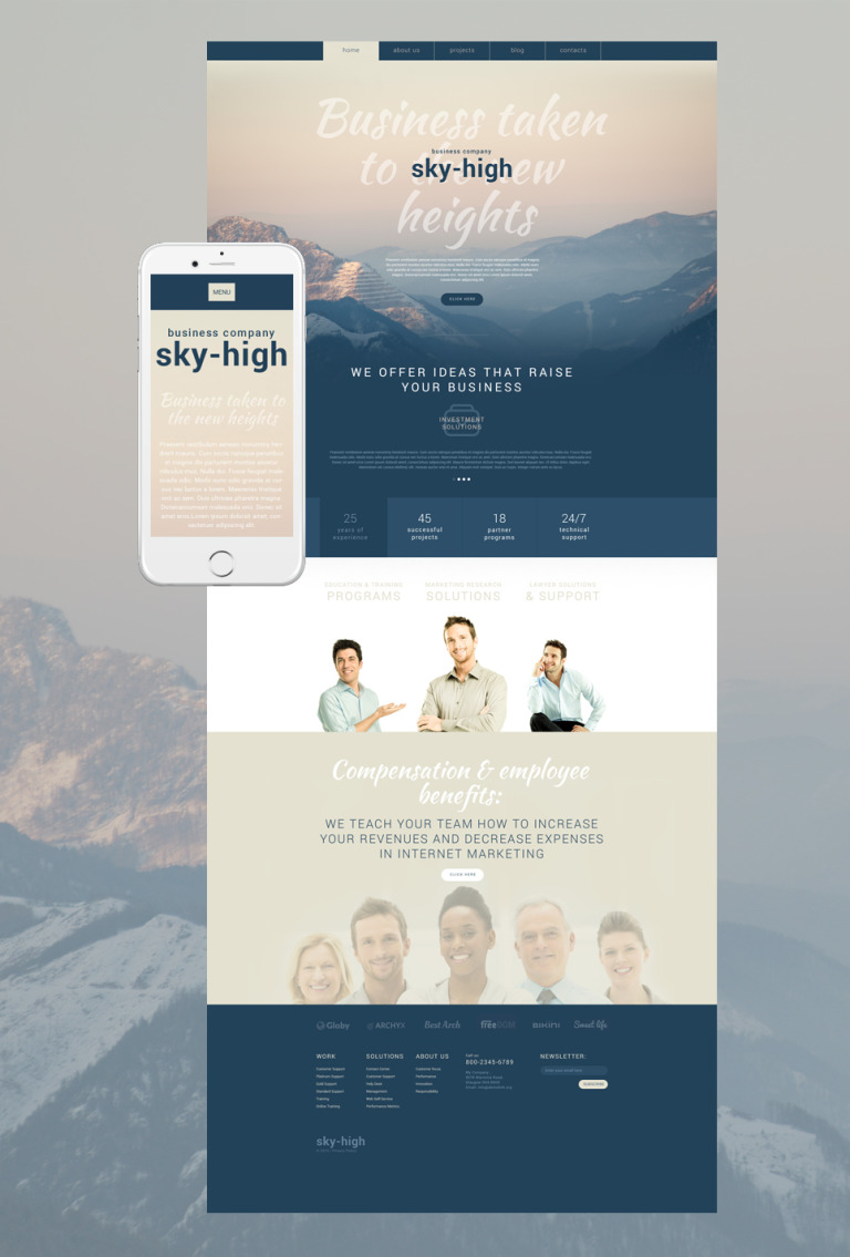 Sky-High WordPress Theme New Screenshots BIG