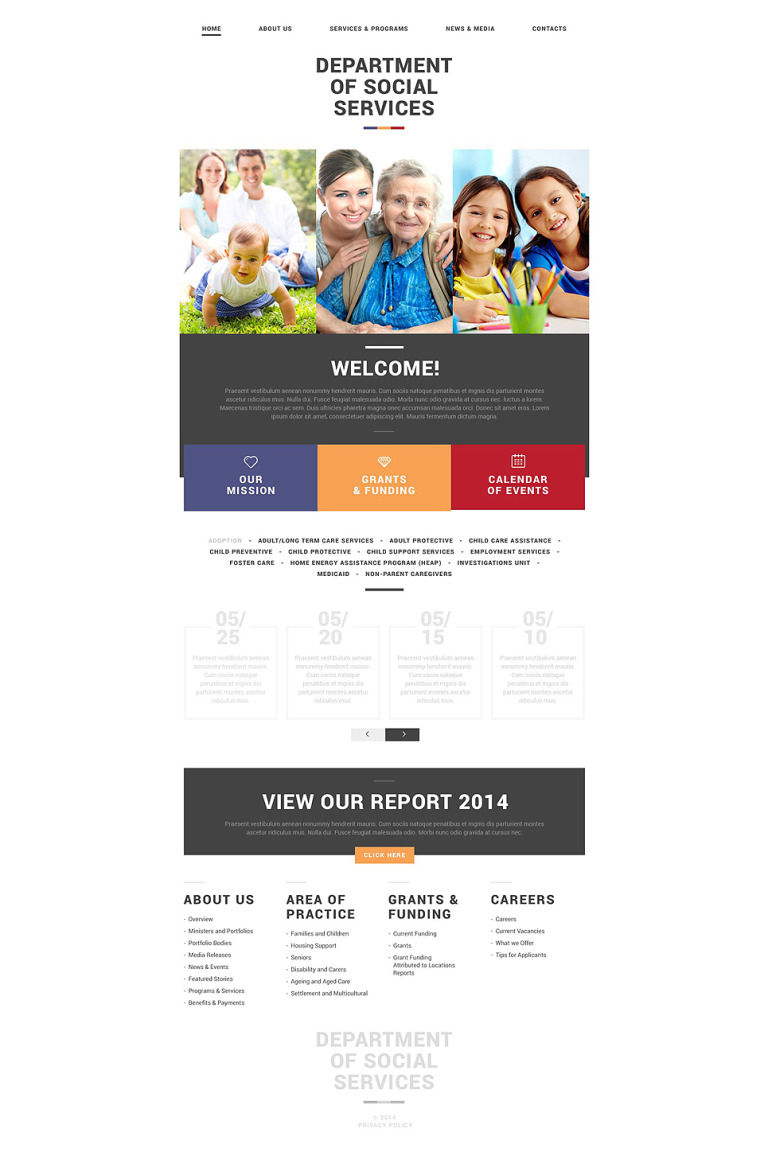 Social Foundation Responsive Website Template New Screenshots BIG