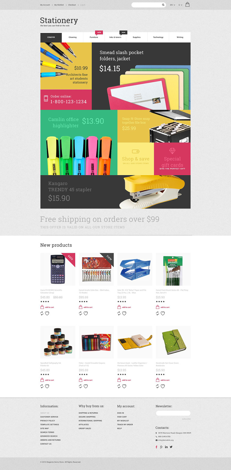 Stationery Store Magento Theme New Screenshots BIG