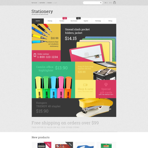 Stationery  - Magento Template based on Bootstrap