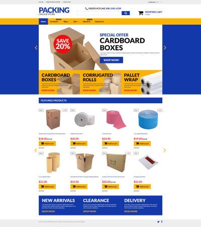 Flexível temas Shopify  №55071 para Sites de Embalagem