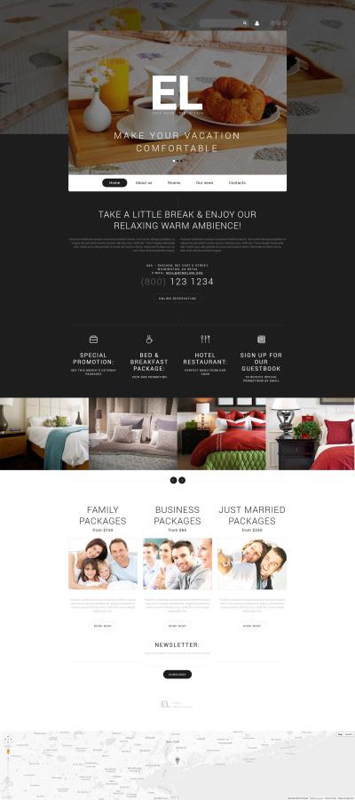Flexível template Joomla №55057 para Sites de Hotéis