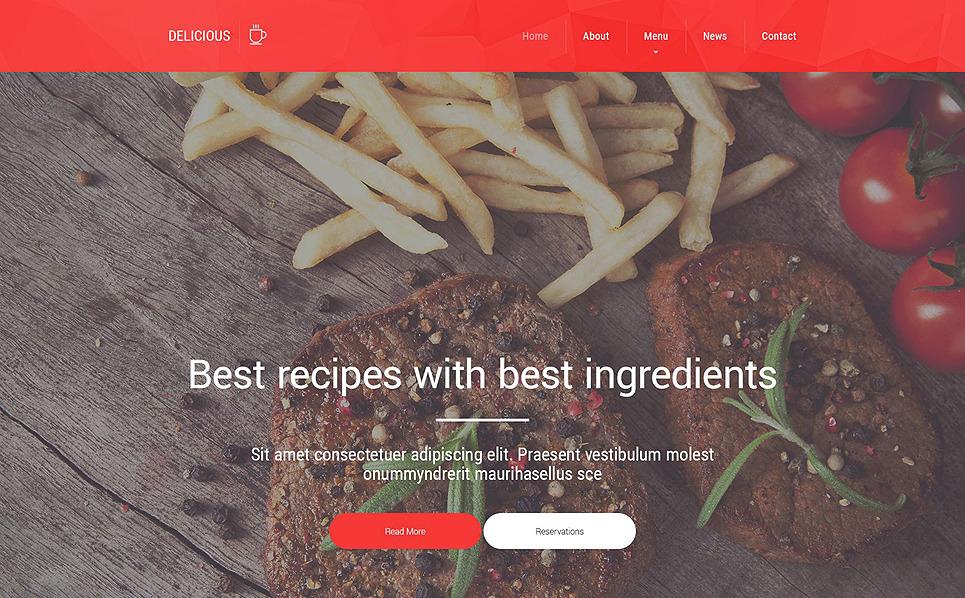 Template Web Flexível para Sites de Cafeteria e Restaurante №55001 New Screenshots BIG