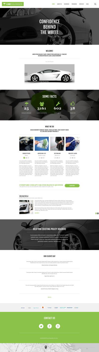 Thème WordPress adaptatif  pour sociétés d'assurance automobile