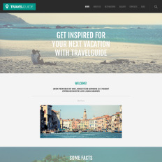 parallax wordpress travel agency themes