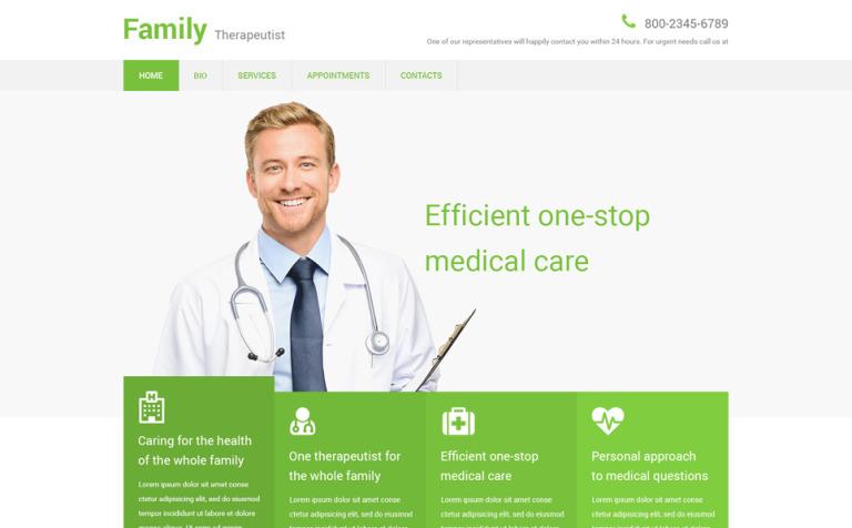 Website Vorlage #55062 für Arzt