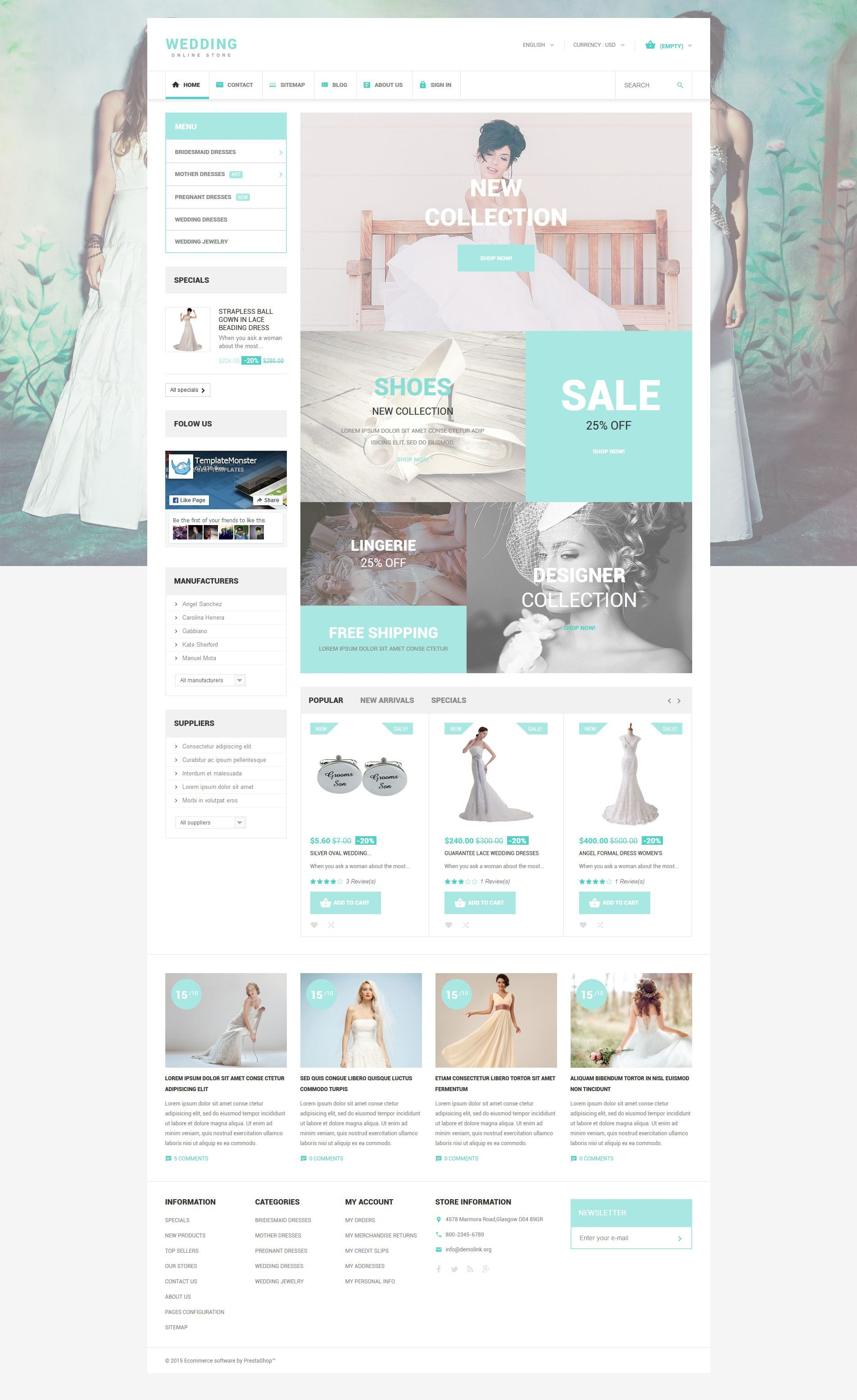 Wedding PrestaShop Theme