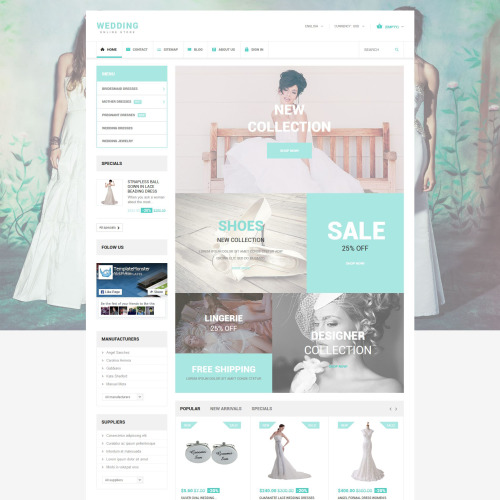 Wedding - PrestaShop Template based on Bootstrap