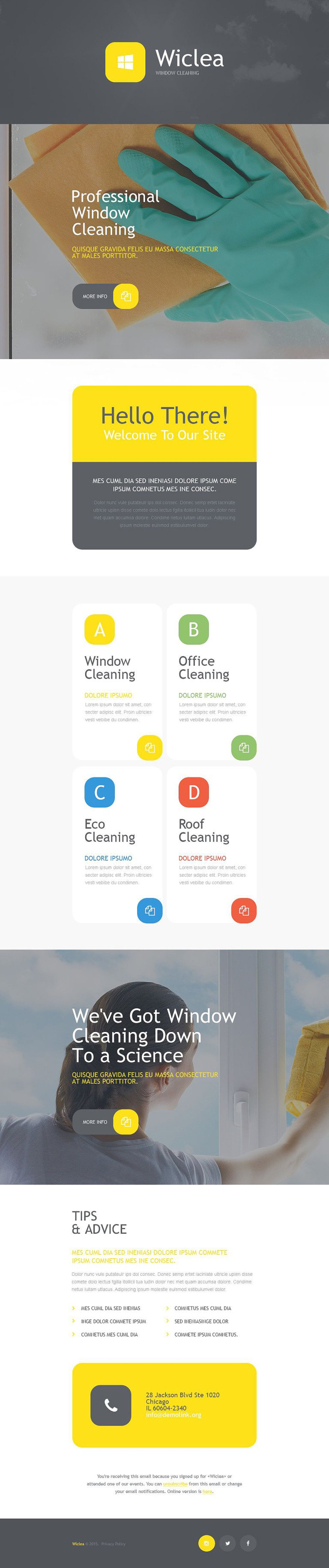 Window Cleaning Responsive Newsletter Template New Screenshots BIG