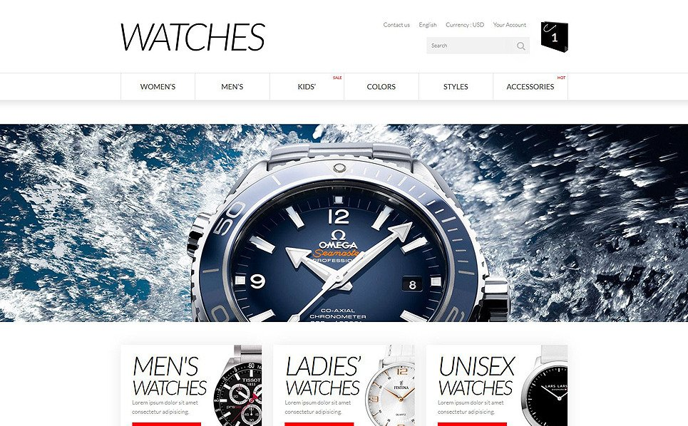Responsive PrestaShop Thema over Horloges  New Screenshots BIG