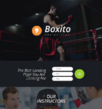 Sport Landing Page  Template 55101