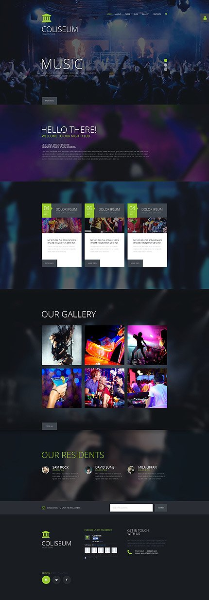 Joomla Theme/Template 55102 Main Page Screenshot