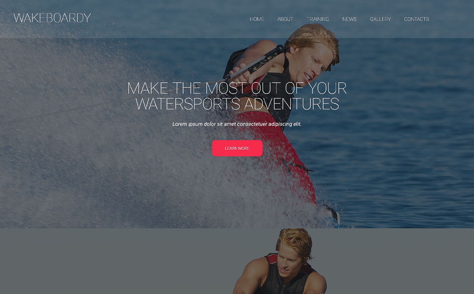 Plantilla Web Responsive para Sitio de Wakeboard New Screenshots BIG