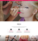 Beauty Website  Template 55107
