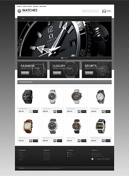 osCommerce Template 55110 Main Page Screenshot
