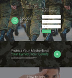 Military Landing Page  Template 55112