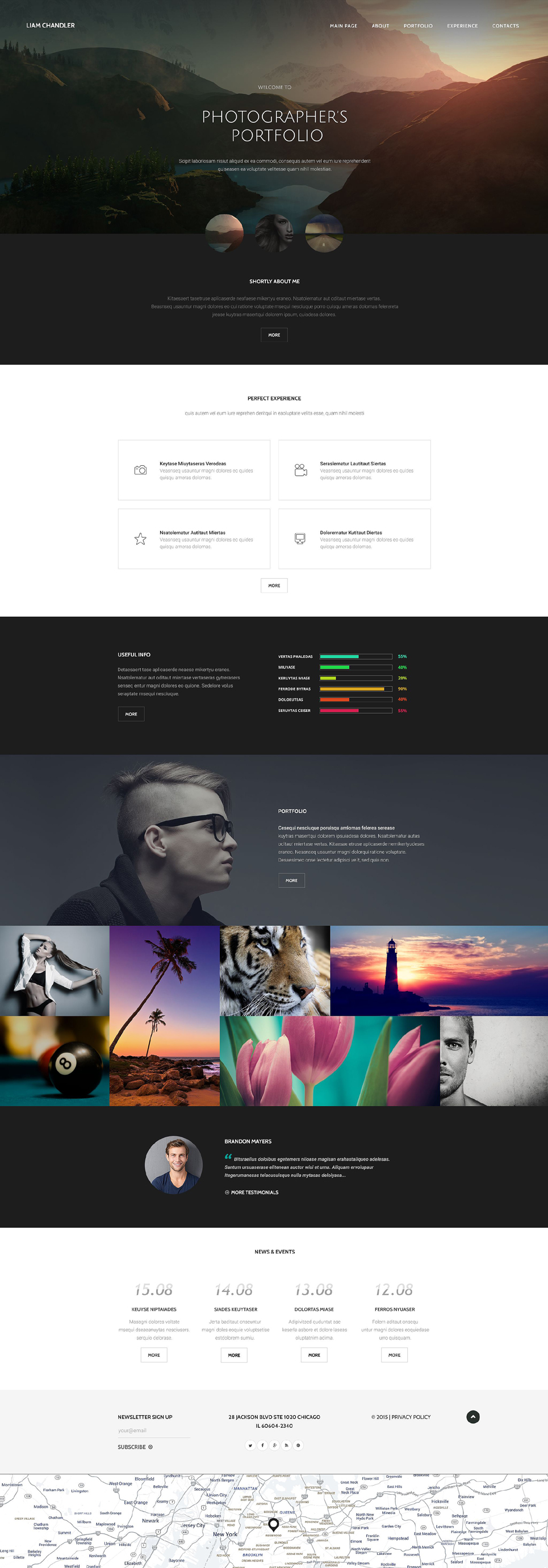 Photographer Portfolio template illustration image