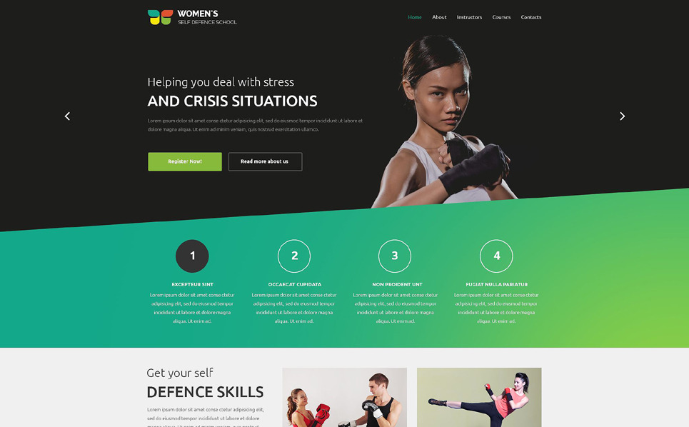 Responsive Website template over Gevechtskunst  New Screenshots BIG