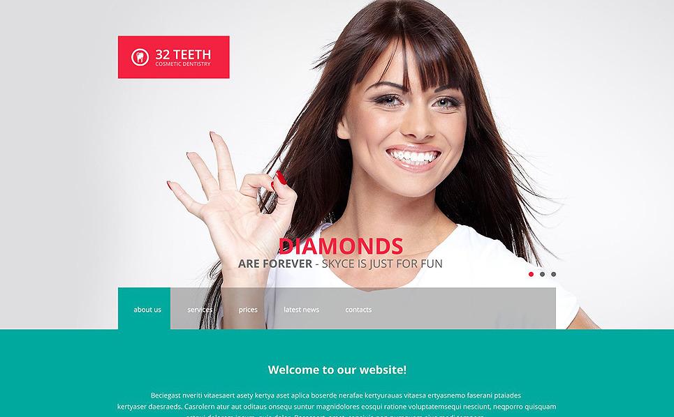 Адаптивний Шаблон сайту на тему стаматологія New Screenshots BIG