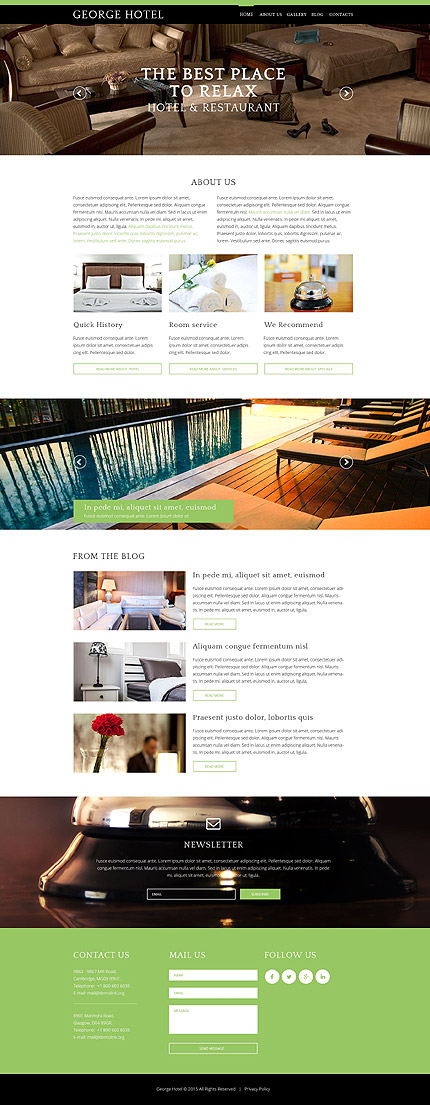 Drupal Template 55120 Main Page Screenshot