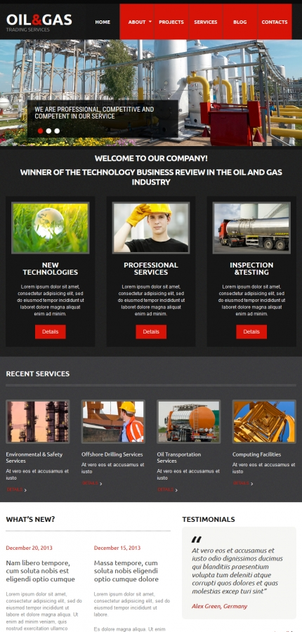 Template #55125 And Gas Moto Cms 3 Templates - Tablet Layout