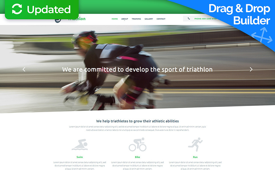 Modello Moto CMS 3 Responsive #55133 per Un Sito di Sport New Screenshots BIG