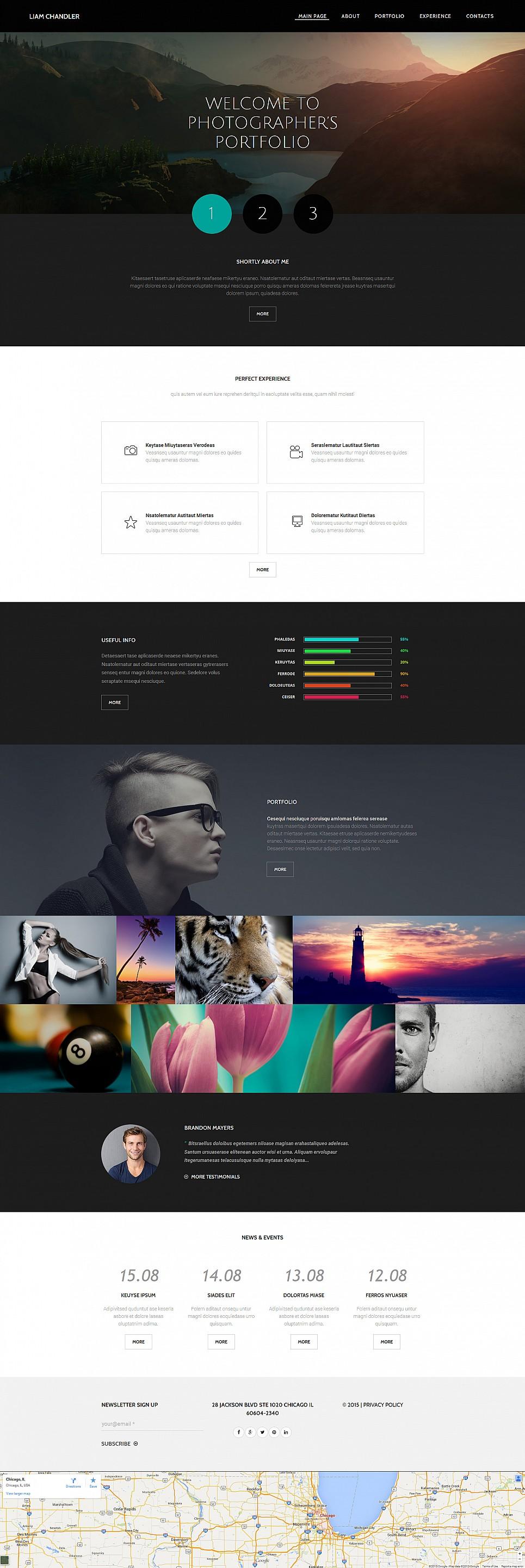 Online portfolio for photographers