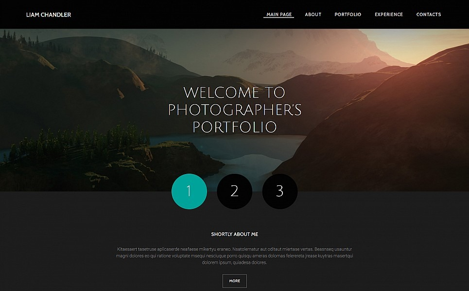 Responsive Moto CMS 3 Template over Fotograaf Portfolio New Screenshots BIG