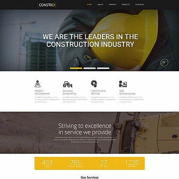 Preview image of Architecture Moto CMS 3 template No. 55141