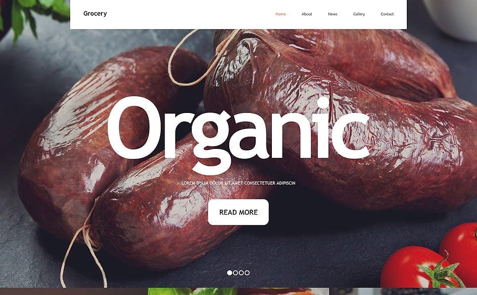 Reszponzív Élelmiszerboltok Weboldal sablon New Screenshots BIG