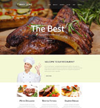 Cafe & Restaurant Website  Template 55158