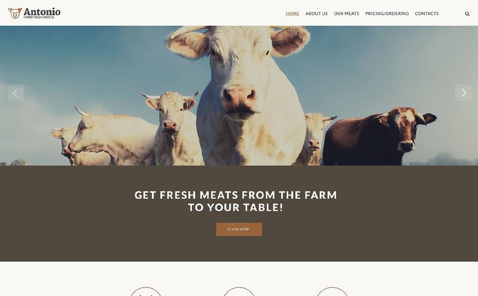 Responsive Cattle Farm Templates Web Sitesi Şablonu New Screenshots BIG