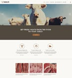 Agriculture Website  Template 55159