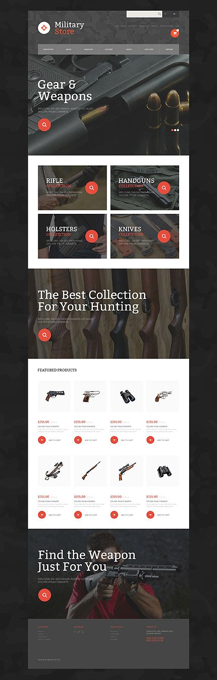osCommerce Template 55167 Main Page Screenshot
