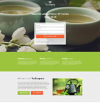 Food & Drink Landing Page  Template 55171