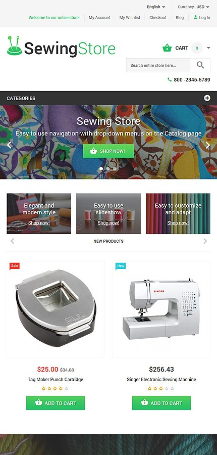 Magento Theme/Template 55176 Main Page Screenshot