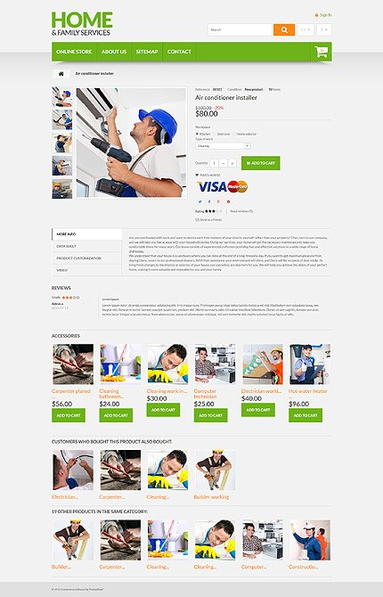 ADOBE Photoshop Template 55177 Home Page Screenshot
