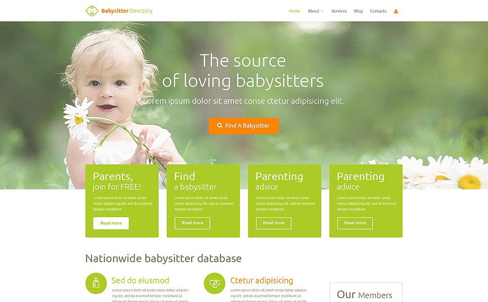 Responsive Çocuk Bakıcısı  Joomla Şablonu New Screenshots BIG
