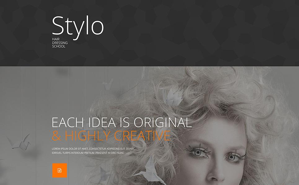 Responsive Güzellik Okulu  Açılış Sayfası Şablonu New Screenshots BIG
