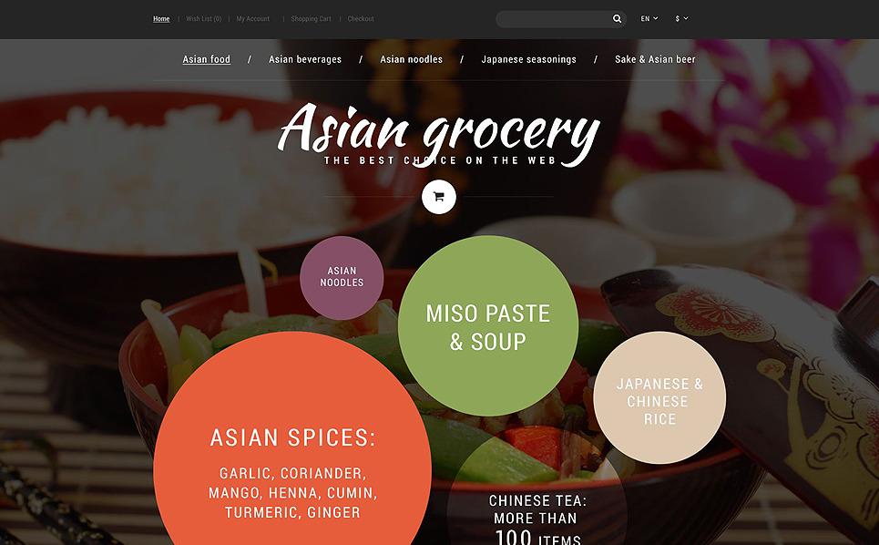 Responsywny szablon OpenCart Azjatycki sklep żywnościowy #55184 New Screenshots BIG