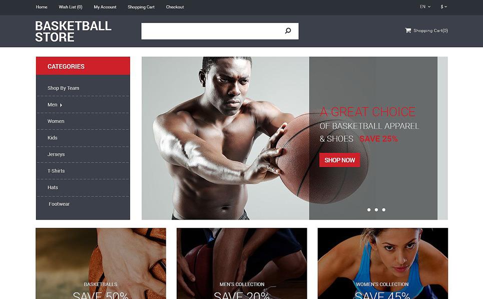 "OpenCart Vorlage namens ""Basketball Shop"" New Screenshots BIG"
