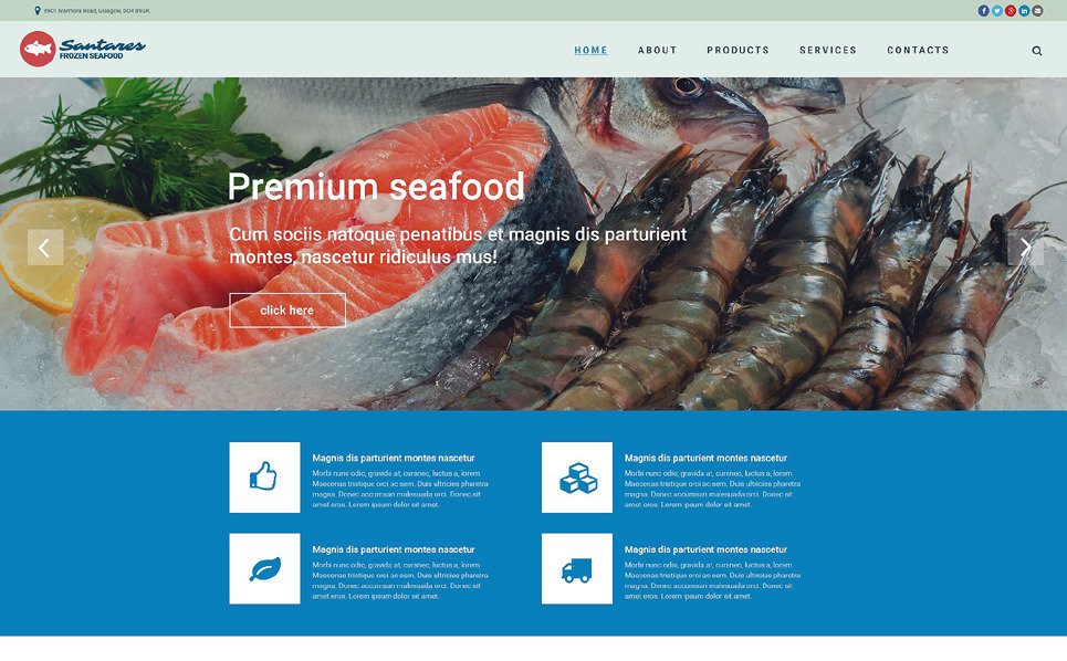 Responsive Donmuş Yiyecekler  Web Sitesi Şablonu New Screenshots BIG